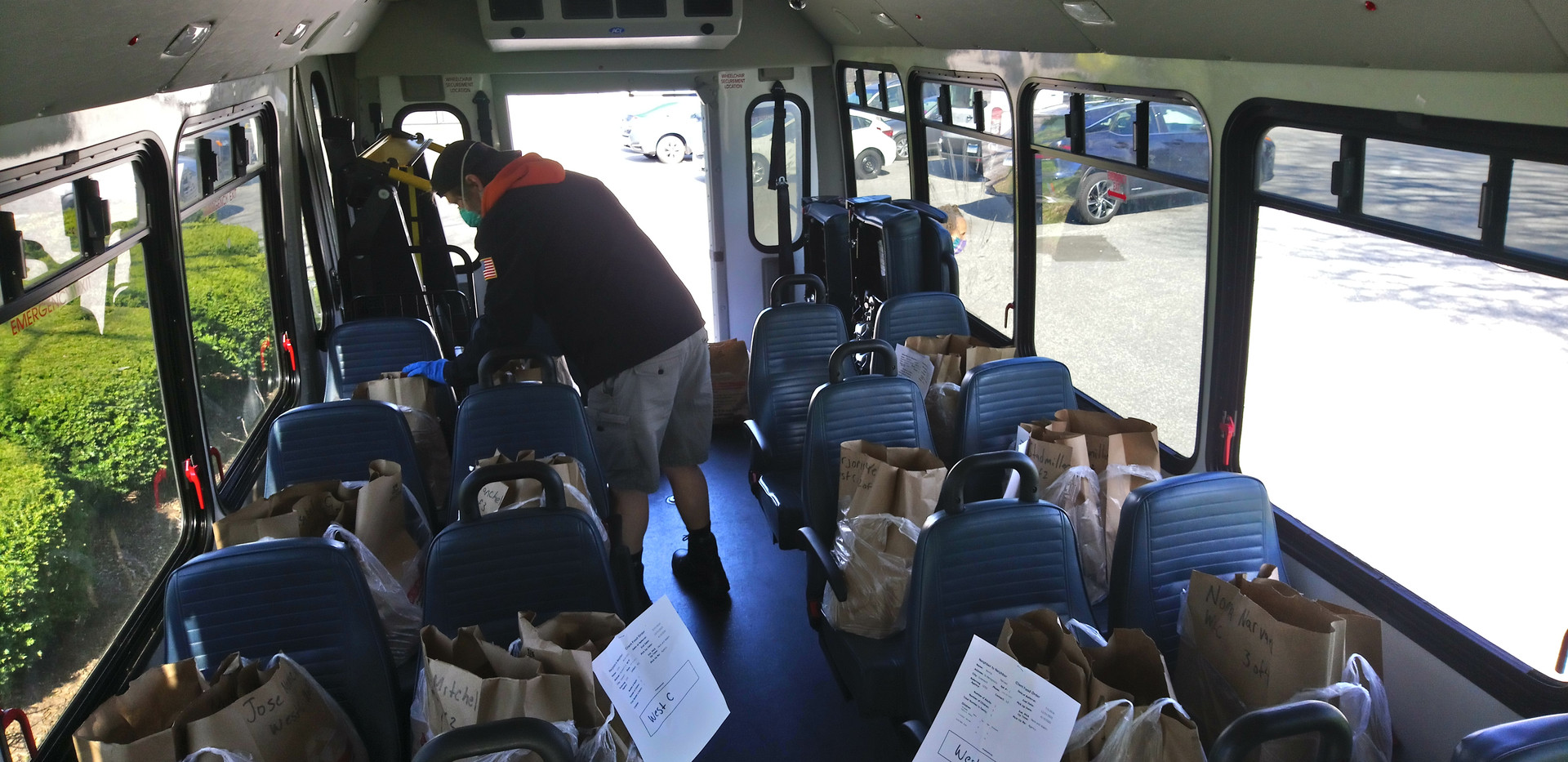 TAG van full of groceries going to seniors and disabled residents