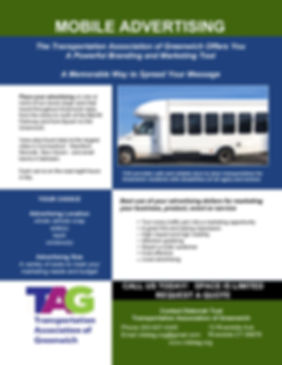 TAG vehicle advertising full color flyer