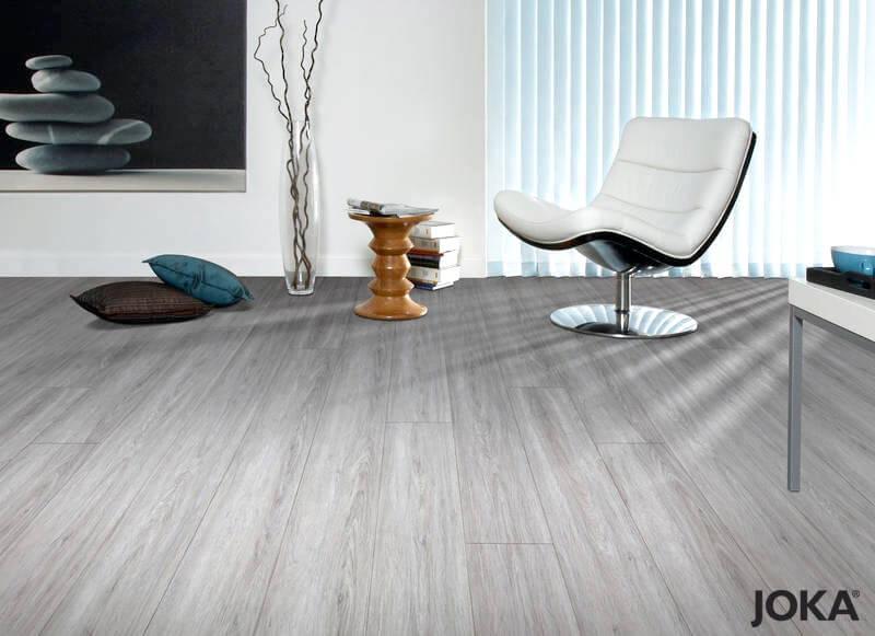 JOKA Vinyl Designboden Evergreen Silbergrau -- Stiegler Wohnkultur