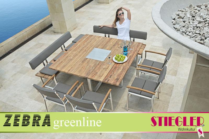 Stiegler Wohnkultur | Gartenmöbel - Zebra Greenline