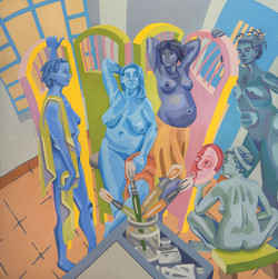 the maidens in blue