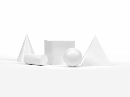 White geometrical Shapes