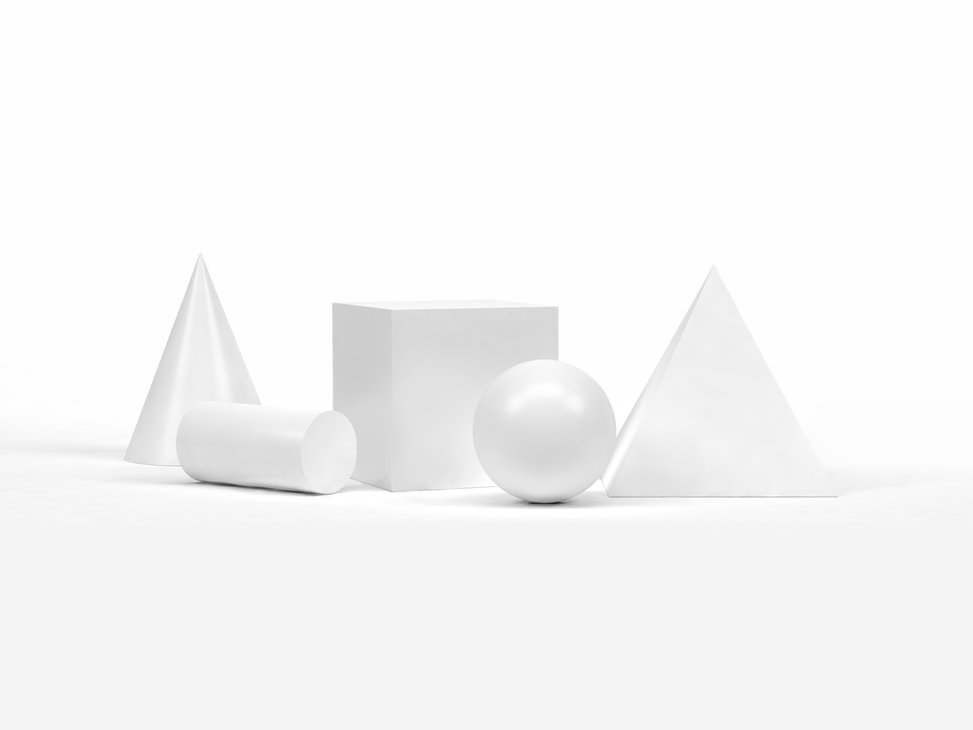 白の幾何学的形状
