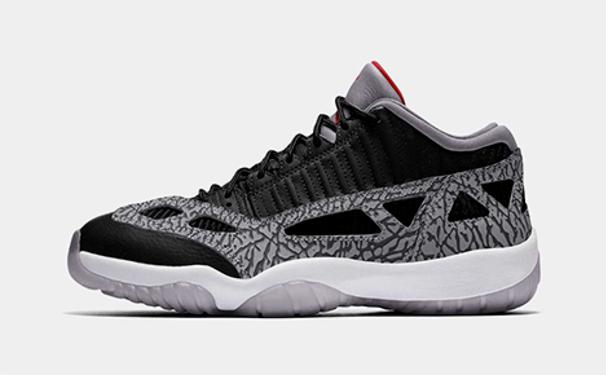 "Air Jordan 11 Retro IE Low ""Black Cement"""