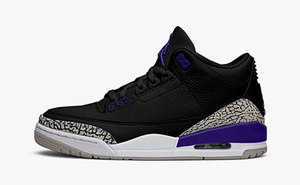 """Air Jordan 3 Retro """"Court Purple"""""""