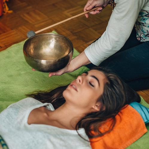 Massage sonore aux bols tibétains (1 côté - 45 min)