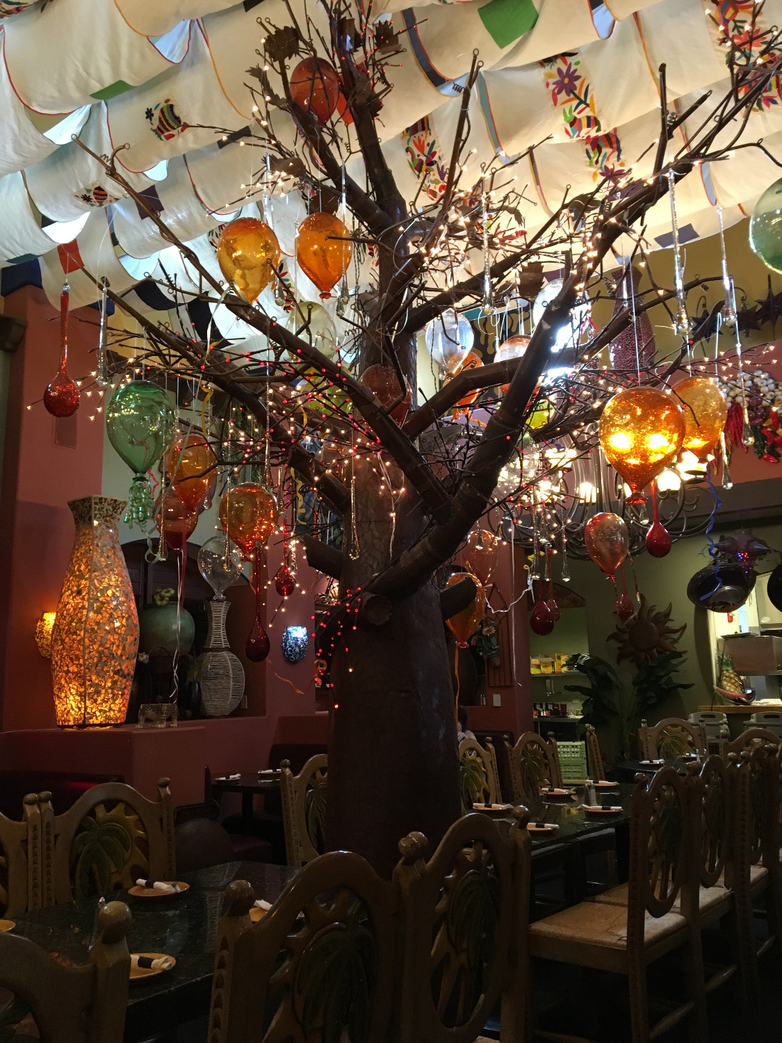 Glass Balloon Tree -- Main Dinning