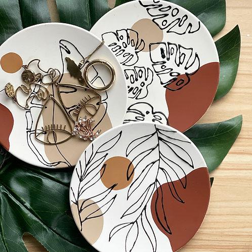 Botanical Jewelry Plates