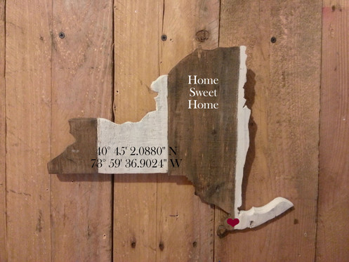 Custom State Shaped Cutouts Wooden Sign