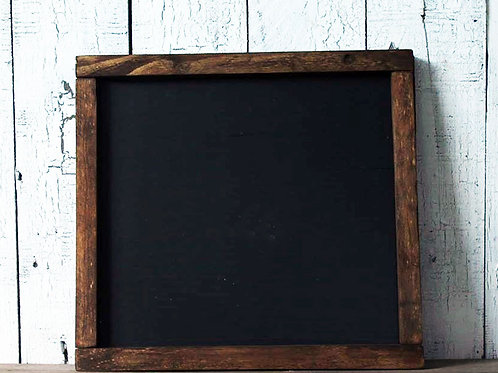 Custom Farmhouse Black Wood Sign with Rustic Stain Frame 15.5 x 14