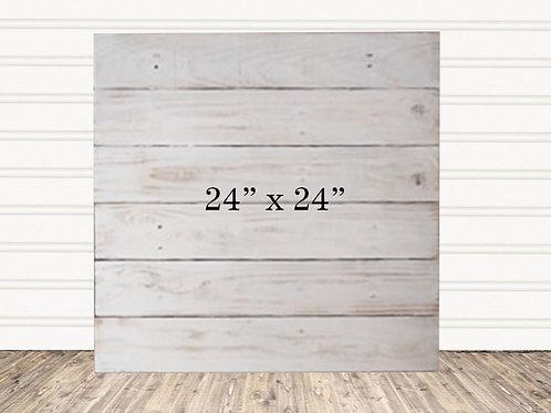 "Custom Antique Wood Sign 24"" x 24"""