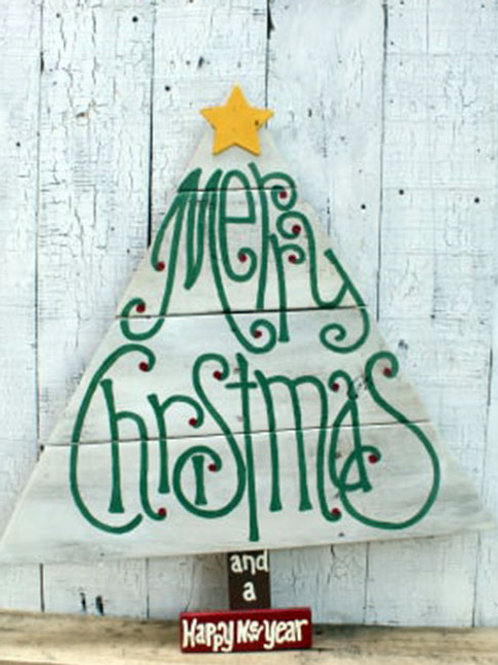 Merry Christmas Happy And A New Year Wood Signs