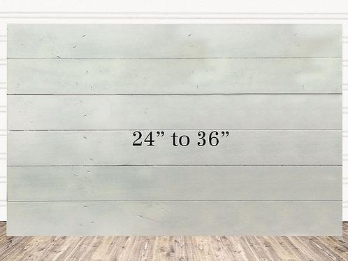 """Custom White Wash Wood Sign 24"""" x 36"""""""