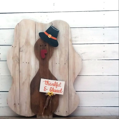Thanksgiving Turkey Porch Wood Sign