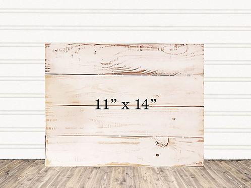 "Custom Antique Wood Sign 11"" x 14"""