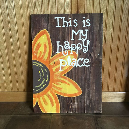 This is My Happy Place Wood Sign