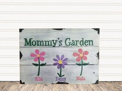Mommy's Garden Wood Sign