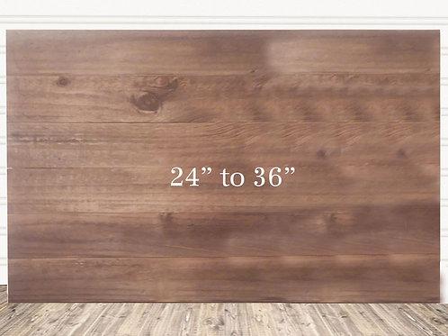 "Custom Rustic Stain Wood Sign 24"" x 36"""
