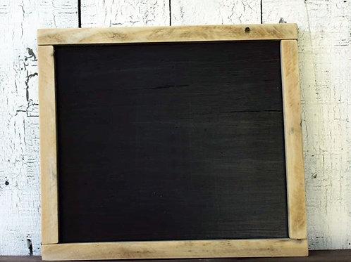Custom Farmhouse Black Wood Sign with Natural Frame 15.5 x 14