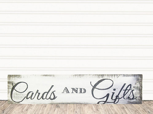 Cards and Gifts Wood Sign