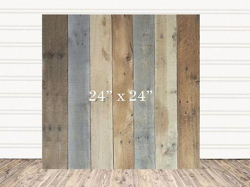 "Custom Multi Stain Wood Sign 24"" x 24"""