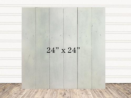 """Custom White Wash Wood Sign 24"""" x 24"""""""