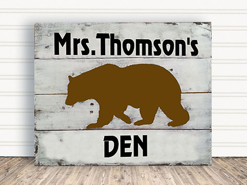 Personalized Teachers Classroom Wood Sign