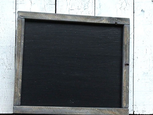 Custom Farmhouse Black Wood Sign with Weathered Frame 15.5 x 14