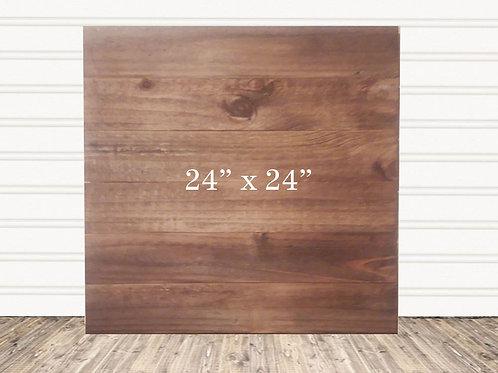 "Custom Rustic Stain Wood Sign 24"" x 24"""