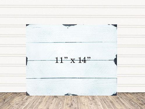 "Custom Shabby Chic Wood Sign 11"" x 14"""