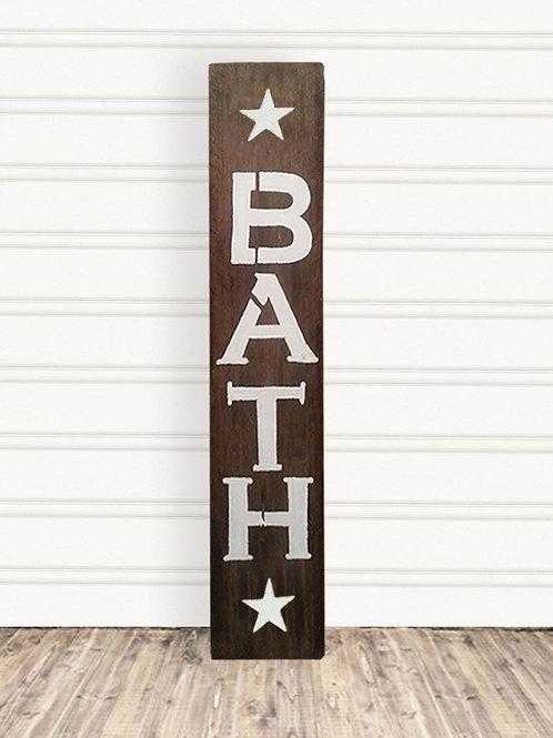 Bath Wood Sign