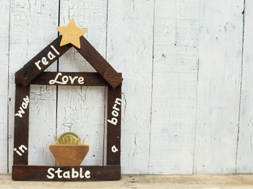 Real Love was Born in a Stable Wood Sign