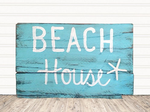 Beach House Wood Sign