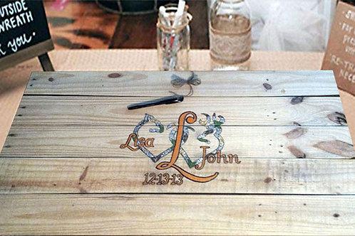 Camo Deer Wedding Guest Book Alternative Wood Sign