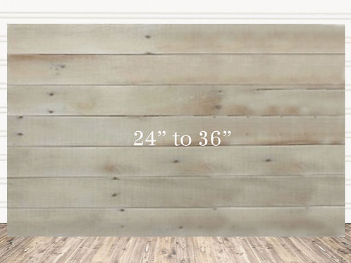 "Custom Natural Wood Sign 24"" x 36"""