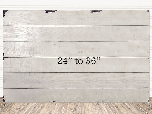 "Custom Shabby Chic Wood Sign 24"" x 36"""