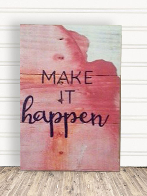 Inspirational Rose Wood Signs