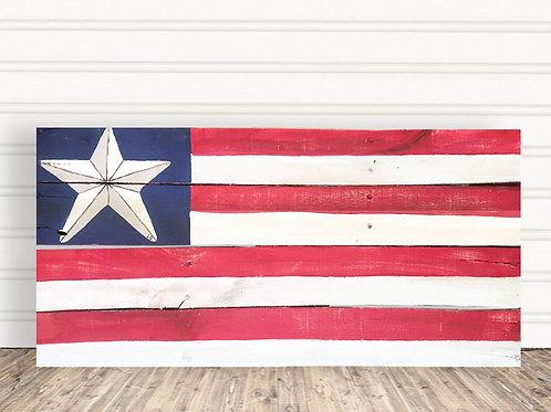One Nation Under God Wood Sign