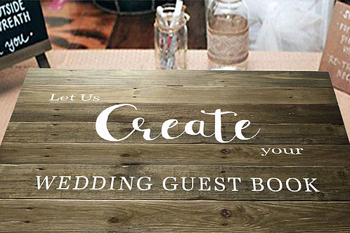Custom Wedding Guest Book Alternative Personalized Wooden Sign