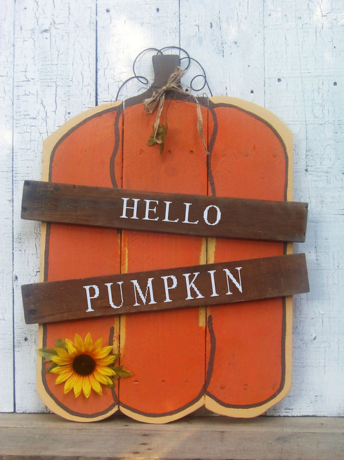 Hello Pumpkin Pallet Wood Sign