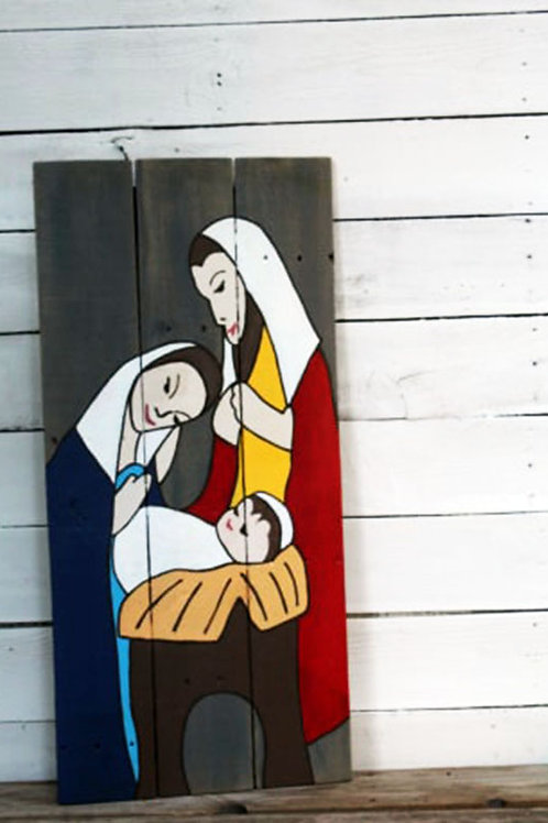 Nativity Wood Sign