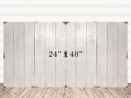 "Custom Shabby Chic Wood Sign 24"" x 48"""