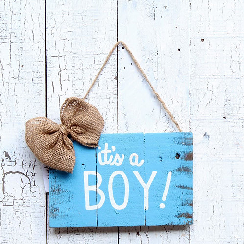 It's a Boy Wood Sign