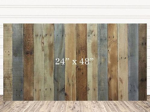 "Custom Multi Stain Wood Sign 24"" x 48"""