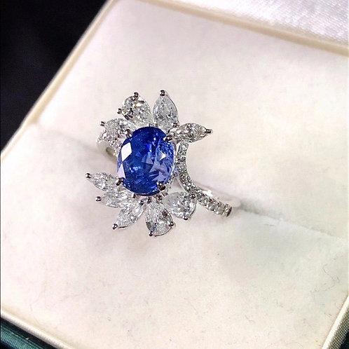 Sri Lanka Unheated Sapphire Ring 2.43ct