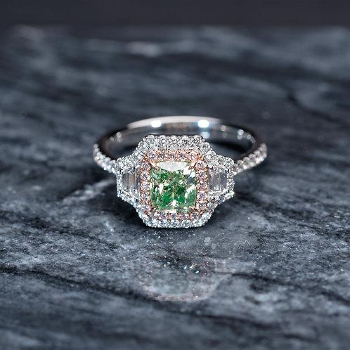 Classic Green Diamond 1ct