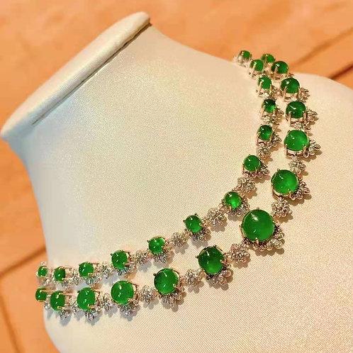 Cabochon Emerald Necklace 22.2ct