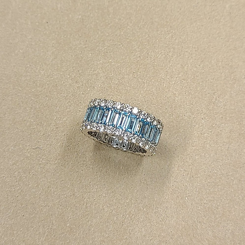 Topaz Eternity Ring 4.9ct