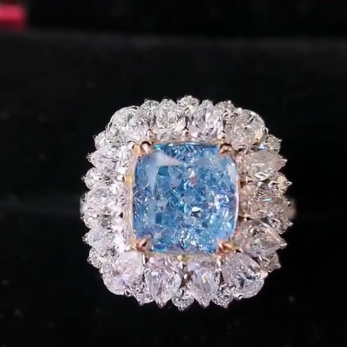 (Ask Price) Blue Diamond Ring 2.76ct