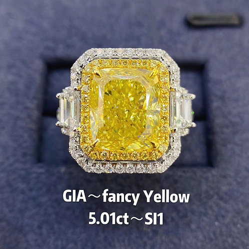 Fancy Yellow Diamond Ring 5.01ct